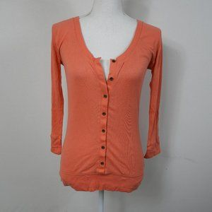 H66 Old Navy Coral Button Down Top